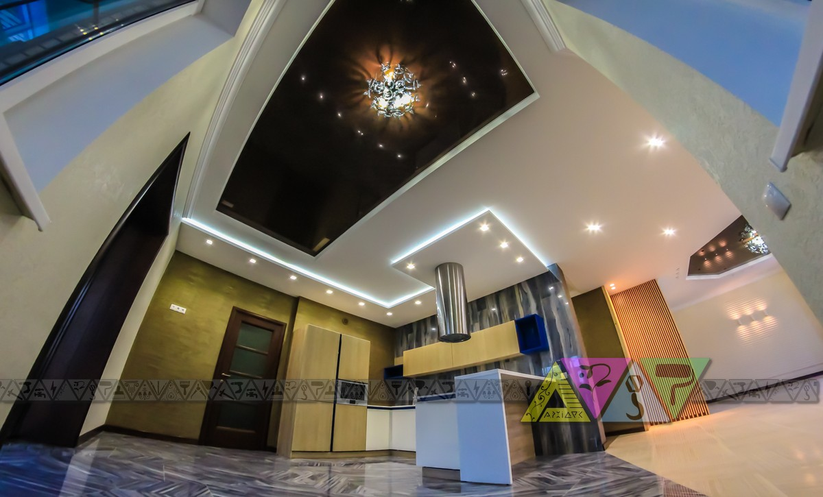 ОТДЕЛКА  дом 130 м2 холл зал кухня (8)